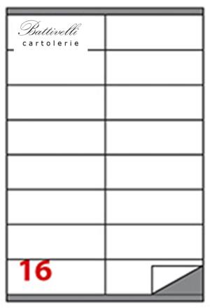 CONFEZIONE ETICHETTE IN A4 F.TO 105 x 36 CONF. 100 FF - 16 PER FOGLIO - C501