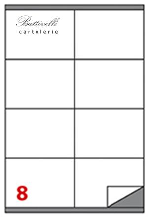 CONFEZIONE ETICHETTE VERDE FLUO IN A4 F.TO 105 x 72 CONF. 100 FF - 8 PER FOGLIO - C502