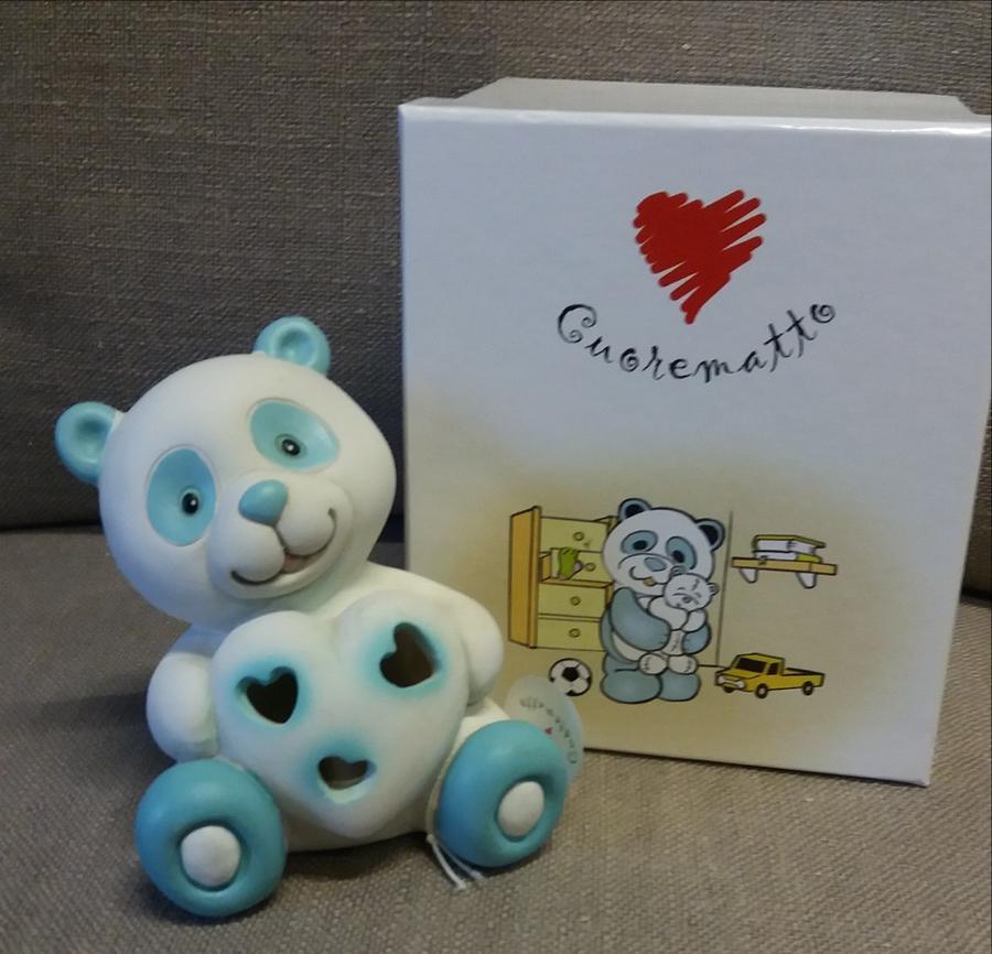 Lampada led panda blu due modelli assortiti, linea Tutti Panda