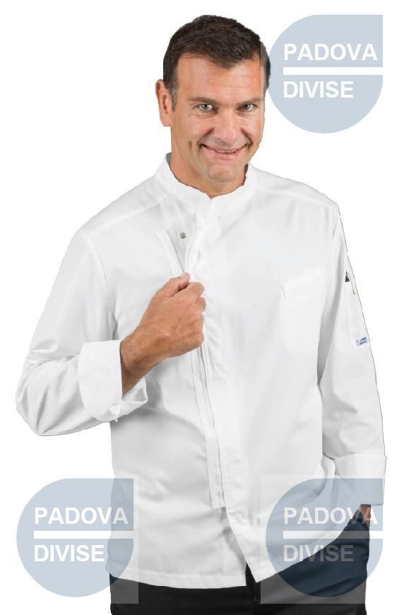 Isacco E Commerce Giacca Da Cuoco Bilbao Con Cerniera