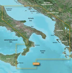 Cartografia Nautica Garmin Bluechart G3 HD Vision Mare Adriatico costa sud - Offerta di Mondo Nautica 24