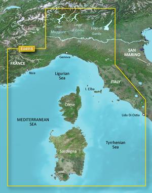 Cartografia Nautica Garmin Bluechart G3 HD Vision Mar Ligure Corsica e Sardegna - Offerta di Mondo Nautica 24