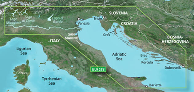 Cartografia Nautica Garmin Bluechart G3 HD Vision Mare Adriatico Costa Nord - Offerta di Mondo Nautica 24