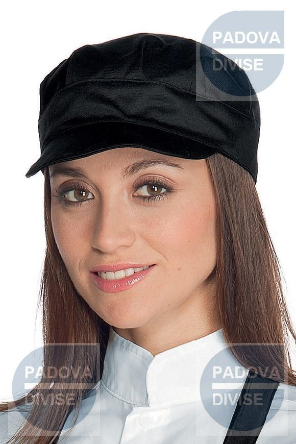 CAPPELLO SAM NERO 65% POLYESTER  35% COTTON