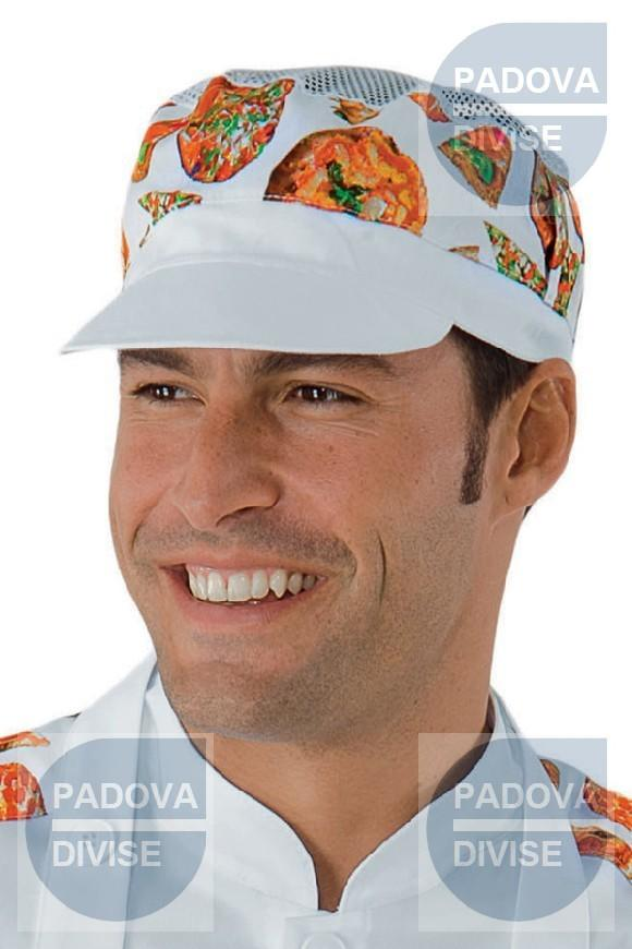 CAPPELLO CHARLY CON RETE BIANCO+PIZZA 65% POLYESTER 35% COTTON f9be856f1fa1