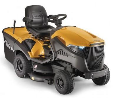 Trattorino tosaerba Stiga Estate 7102 HWS cambio idrostatico Motore Kawasaki FS600 V 603 cc bicilindrico taglio 102cm mulching
