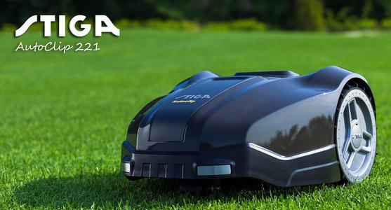 Robot tagliaerba STIGA AUTOCLIP 221 con motore a spazzole batteria 2,5 Ah