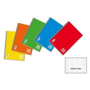 BLOCCO NOTES QUADERNO A4 CON SPIRALE QUADRO 5 MM ONE COLOR MAXI