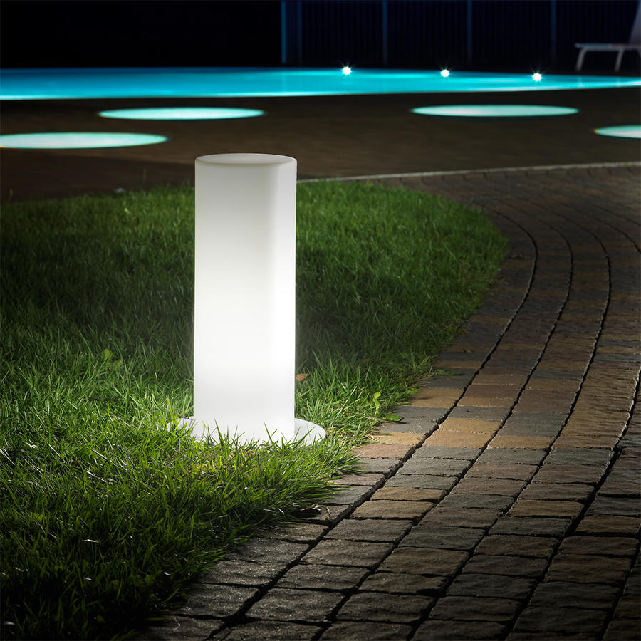 Colonna luminosa da giardino da esterno con luce led VERTIGO cm 55 H
