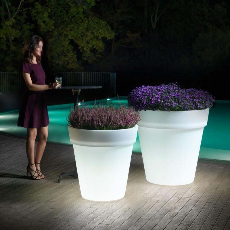 Vaso fiori da giardino luminoso pot easy - Vaso da giardino ...