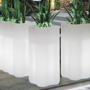 Fioriera da giardino quadra NEBULOSA da esterno LUMINOSA cm 35 x 35 x 78 h a batteria