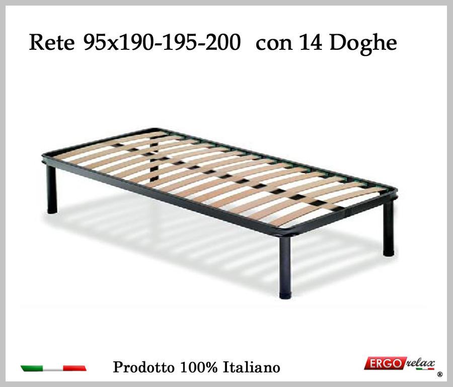 Rete per materasso a 14 doghe in faggio VIENNA da cm 95x190/195/200 100% Made in  Italy