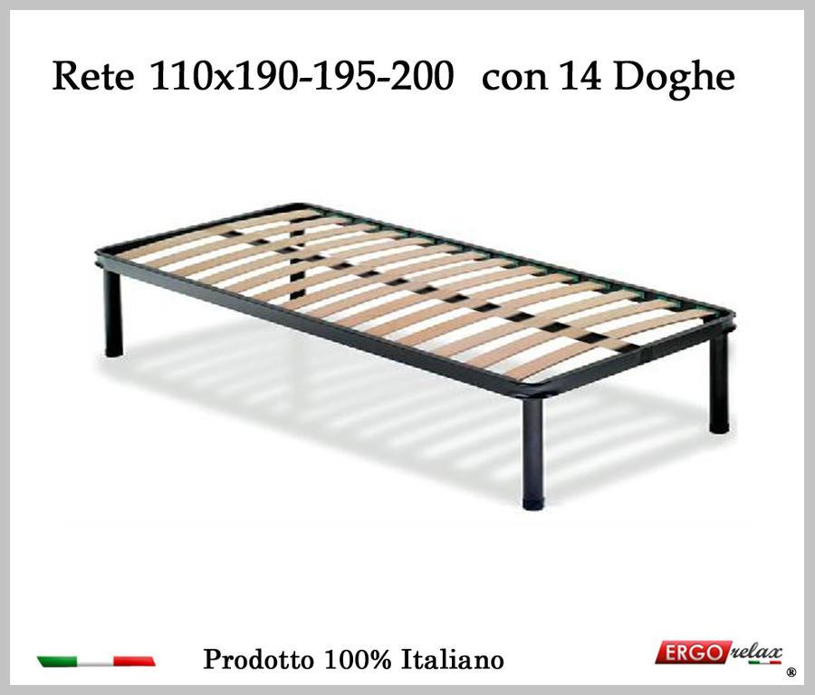 Rete per materasso a 14 doghe in faggio VIENNA da cm 110x190/195/200 100% Made in  Italy
