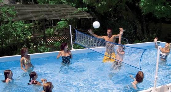Set pallavolo per piscine rettangolari 549 e 732 aggancio piscina