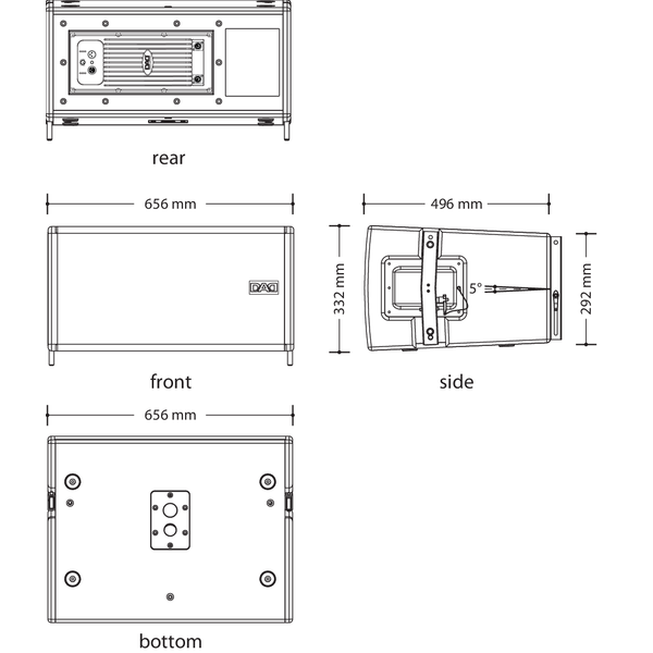 DAD Line Array modulo MA605A