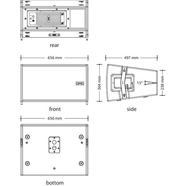 DAD Line Array modulo MA615A
