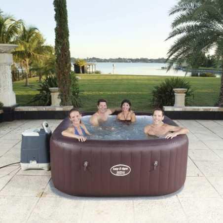 Piscina idromassaggio gonfiabile bestway 54173 lay z maldive spa 5 posti piscina da giardino - Piscina spa gonfiabile ...