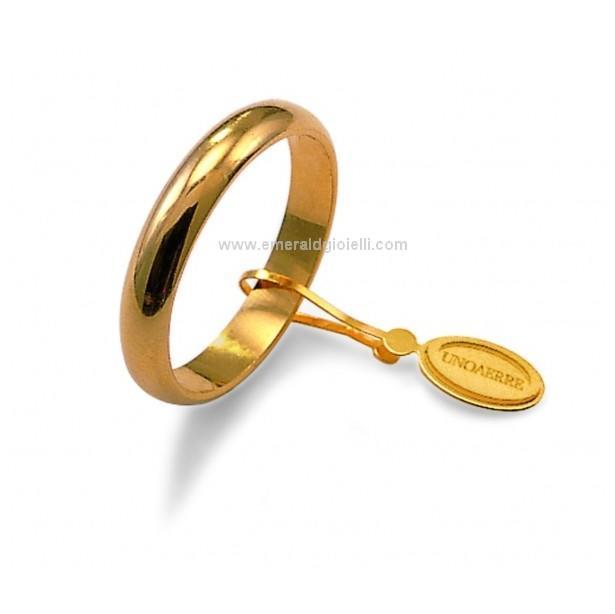 Fede Nuziale UnoAerre Oro Giallo 18 kt 3 gr