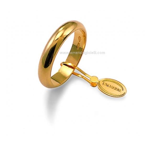 Fede Nuziale UnoAerre Oro Giallo 18 kt 5 gr