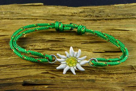 Edelweiss Bracelet Silver enamelled