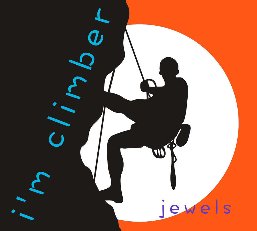 Climber Girl silhouette  pendant