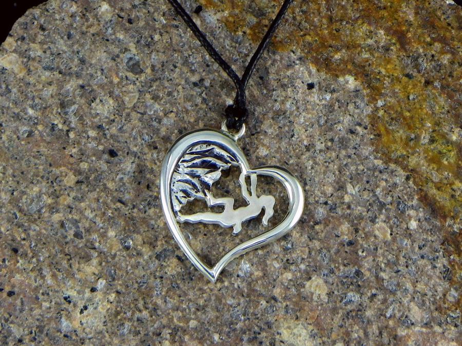 Climber girl Pendant heart