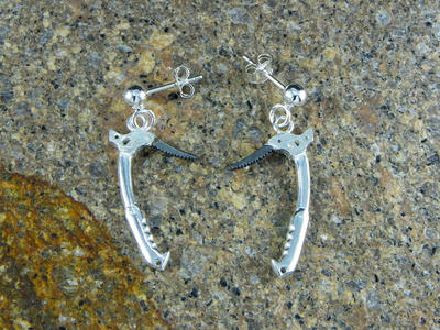 Technical ice ax earrings