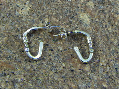 Carabiner earrings - i'm climber