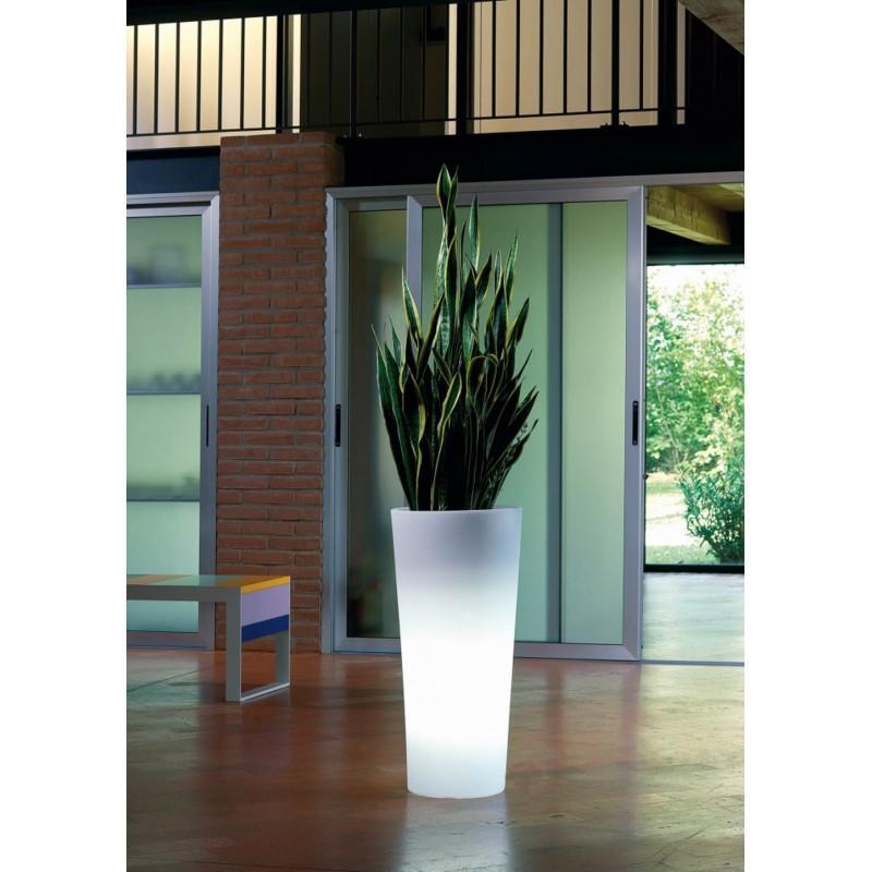 Vaso luminoso GENESIS ROTONDO PIRAMIDE con luce corrente spina