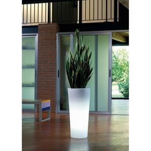 Vaso luminoso GENESIS ROTONDO PIRAMIDE con luce a batteria colore RGB