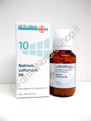 SALE DI SCHÜSSLER N.10 Natrium Sulfuricum D6 DHU