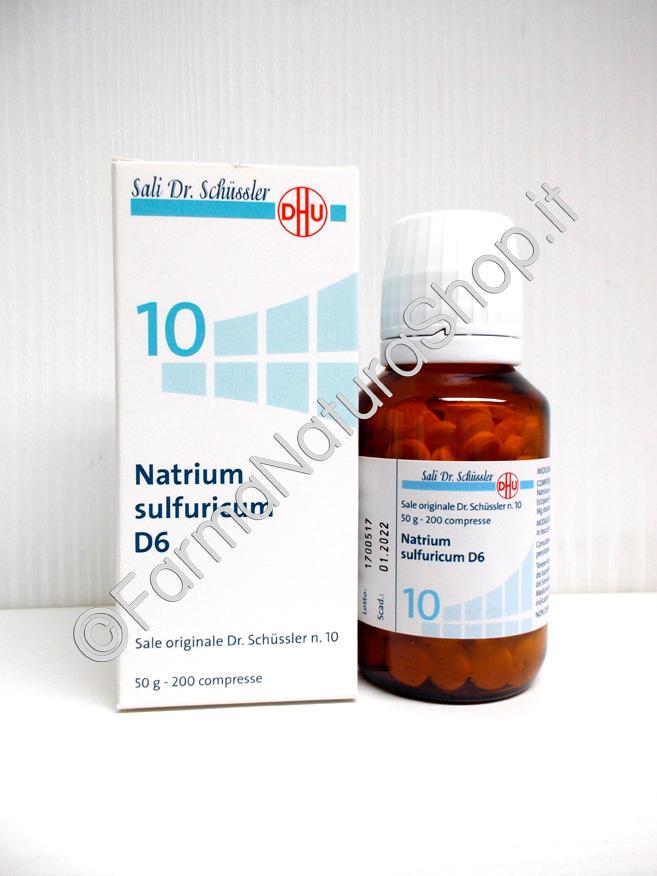 SALE DI SCHÜSSLER N.10 Natrium Sulfuricum DHU