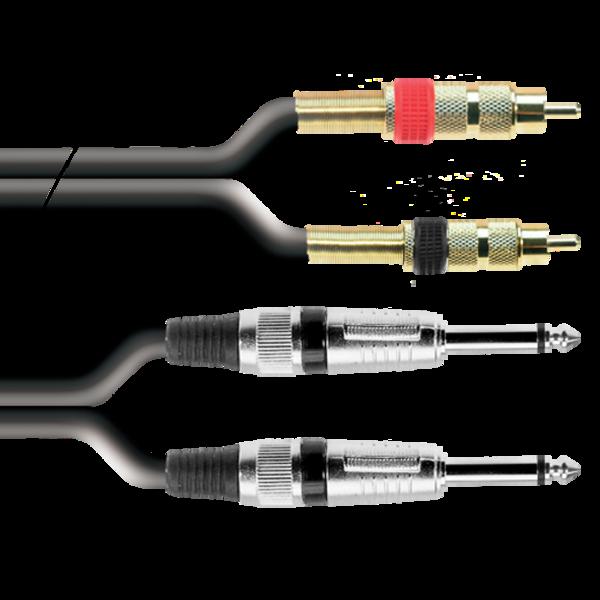 ProAudio PLAY22325 series - Cavo audio 2 JACK MN (m)-2 RCA (m)