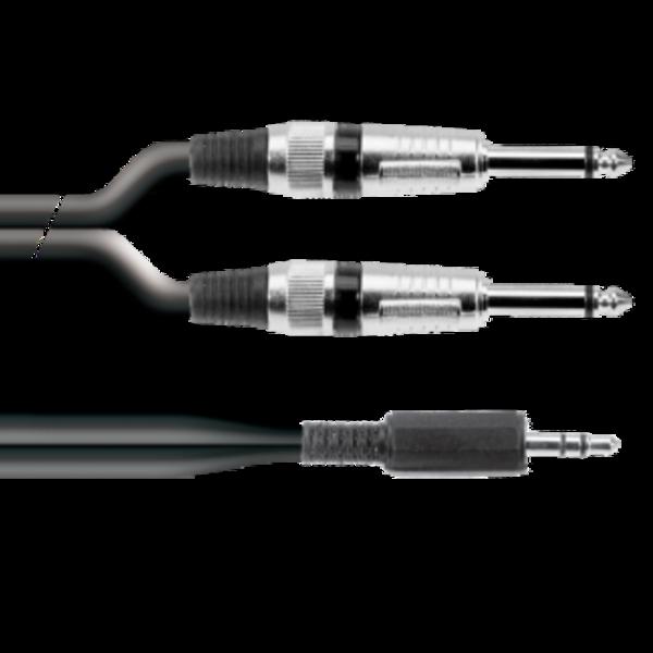 ProAudio PLAY22322 series - Cavo audio MINI JACK ST (m)-2 JACK MN (m)