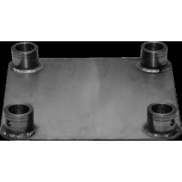 SQFP - Base da terra per tralicci in alluminio a sezione quadrata serie HQ/SQ.