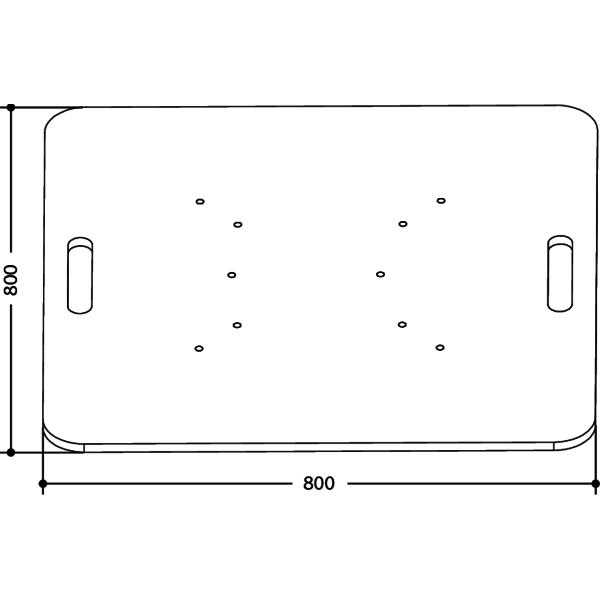 FPU8080 - Base da terra universale per tralicci in alluminio.