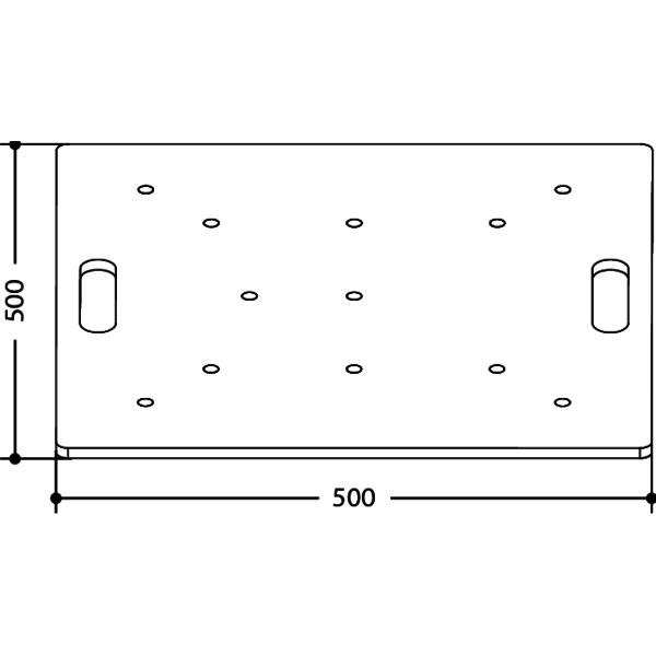 FPU5050 - Base da terra universale per tralicci in alluminio.