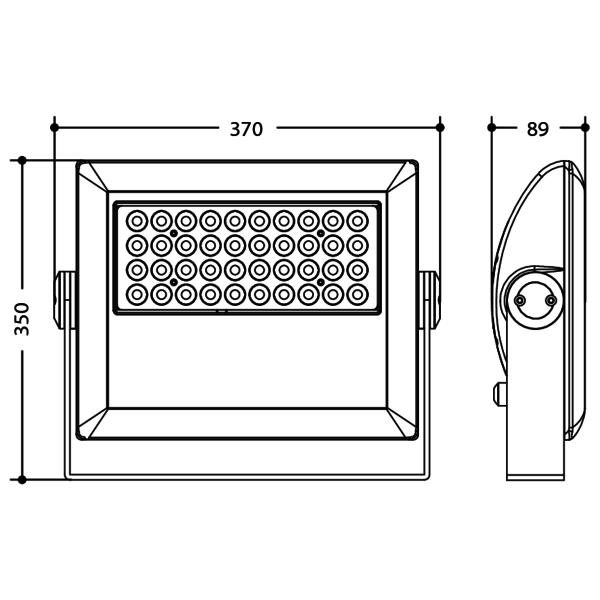 ARCFLOOD40RGB - Proiettore LED per uso architettonico
