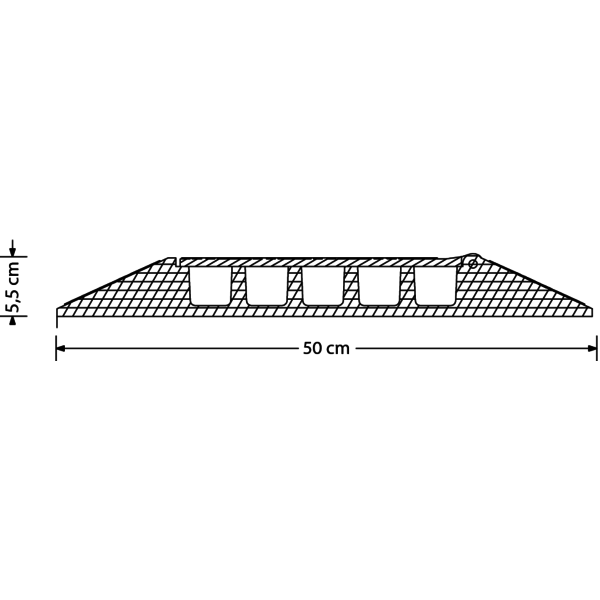 ProTruss CC535CR25 - Curva per pedana passacavo