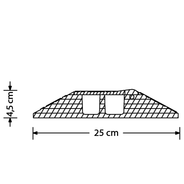 ProTruss CC230CR45 - Curva per pedana passacavo