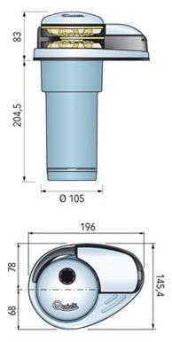 Verricello Salpa Ancora Serie Prince E Mod. DP2E 1100 da 800W a 24 Volts  di Quick - Offerta di Mondo Nautica 24