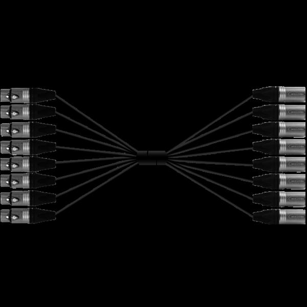 ProAudio TOUR40830 series - Cavo audio multipolare 8 XLR (m) - 8 XLR (f)