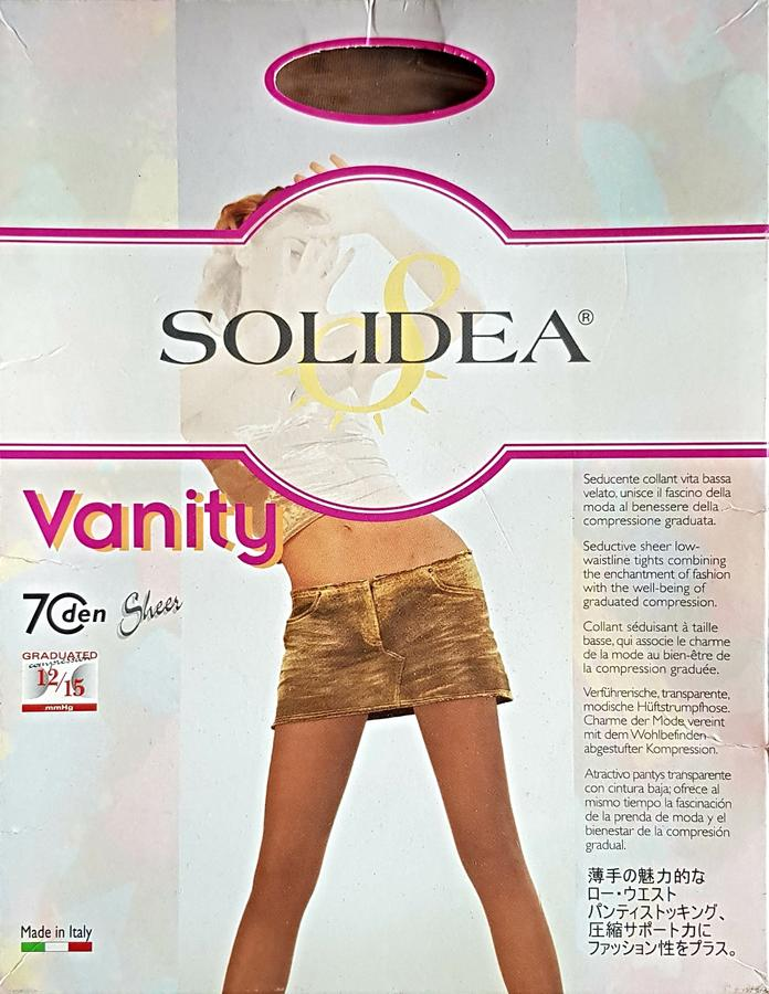 SOLIDEA Collant vita bassa 70den VANITY size S color GLACE