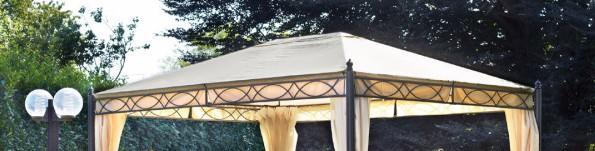 Telo di ricambio impermeabile per gazebo rettangolare 3 x 4 LEONARDO 3 X 4 copertura gazebo 3 x 4