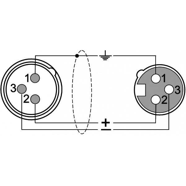 ProAudio TOUR53413 - Cavo segnale DMX 3 poli