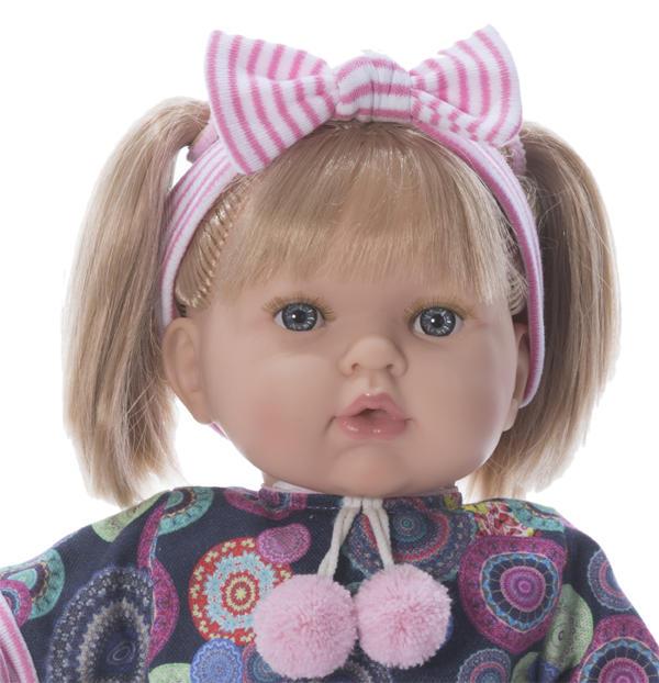 Bambola Profumata in Vinile Tita con Vestito Hippie di Nines d'Onil Completa di Scatola