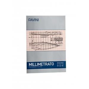 BLOCCO ALBUM MILLIMETRATO FAVINI 10 FOGLI A3
