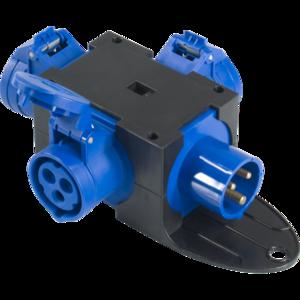 PBQ1654 - Box per la distribuzione elettrica, ingresso spina 3p 16A