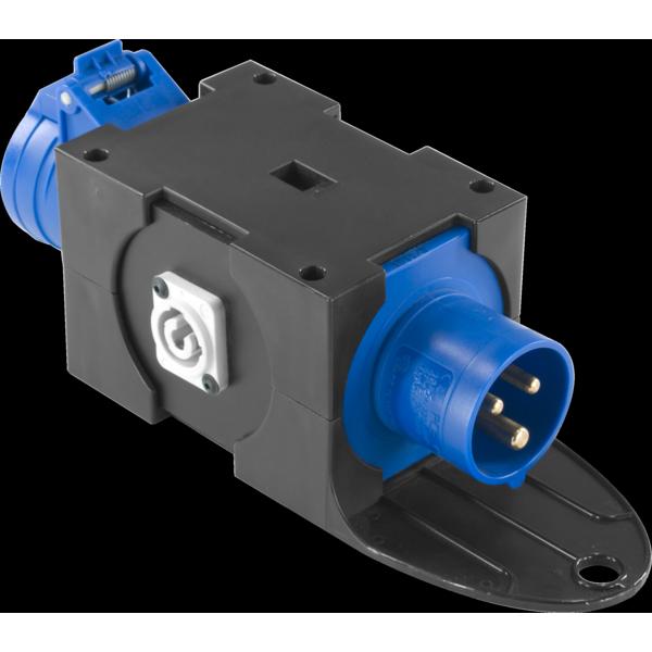 PBQ1665 - Box per la distribuzione elettrica, ingresso spina 3p 16A