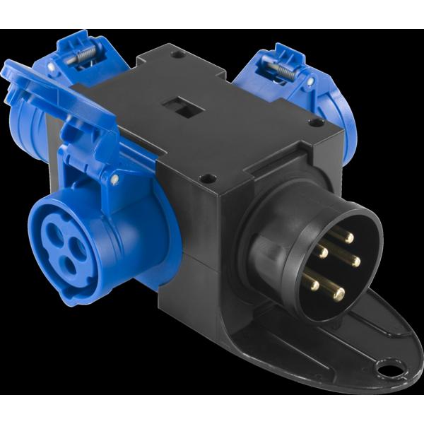 PBQ1676 - Box per la distribuzione elettrica, ingresso spina 5p 16A